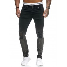 Zwart grijze slim fit denim jeans